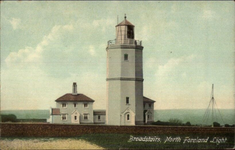 Broadstairs North Foreland Lighthouse c1910 Postcard