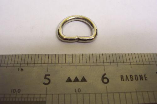 """13mm Dee D Anillos De Cuero Artesanales M 10 Nickel Plate 1//2 /"""""""