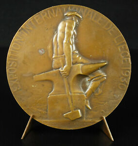 Medal-Exhibition-International-1930-Cork-Art-Walloon-Former-Belgium-Medal