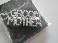 Clear Groom Mother Pin Brooch For Bridal Shower Wedding Party **Great Gift**