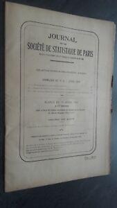 Journal de La Company Estadísticas De París Abril 1942 Contenido N º 4