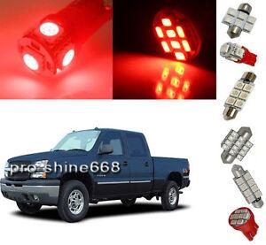 12pcs Red Led Light Interior Package For Chevy Silverado Gmc Sierra 99 06 Ebay