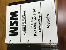 KUBOTA KX36-3 KX41-3S KX41-3V EXCAVATOR Workshop Service Repair Manual BINDER