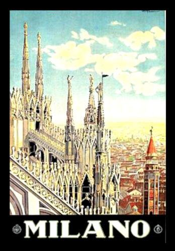 MILANO A3 vintage retro travel /& railways posters print #3