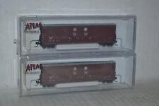 2 Atlas David J Joseph Company 53' Evans DPD  Box Car N scale 31341, 31342
