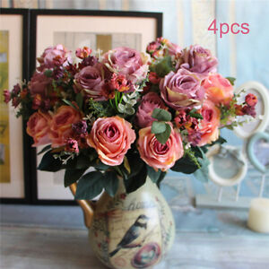 Artificial-Rose-Silk-Fake-Flowers-Wedding-Bridal-Party-Bouquet-Floral-Home-Decor