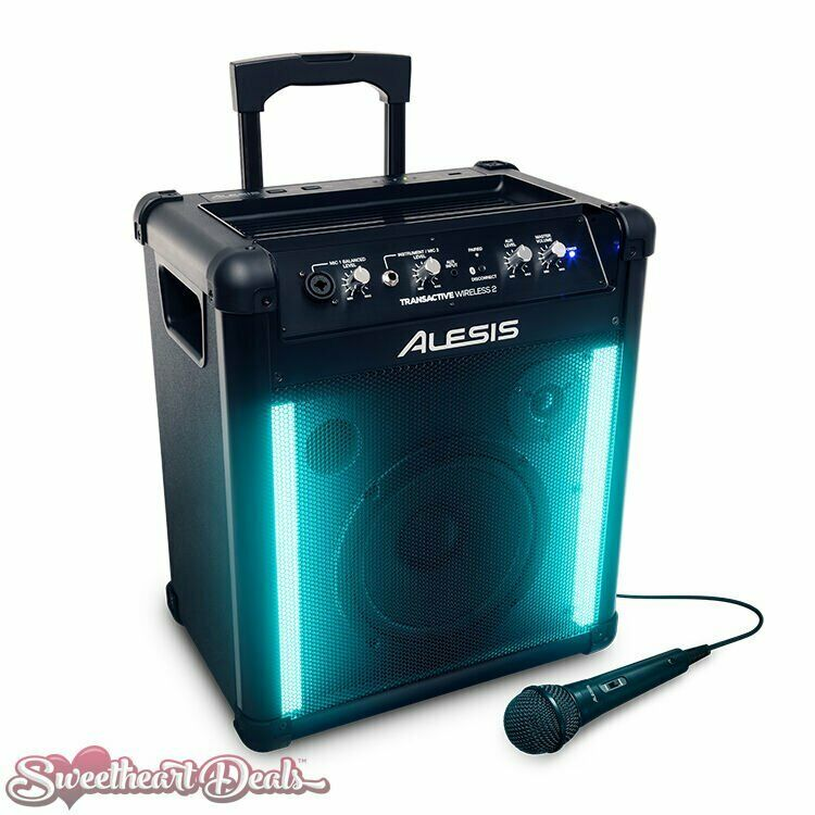 Alesis TransActive Wireless 2 Rechargeable Blautooth Audio Speaker mit LED