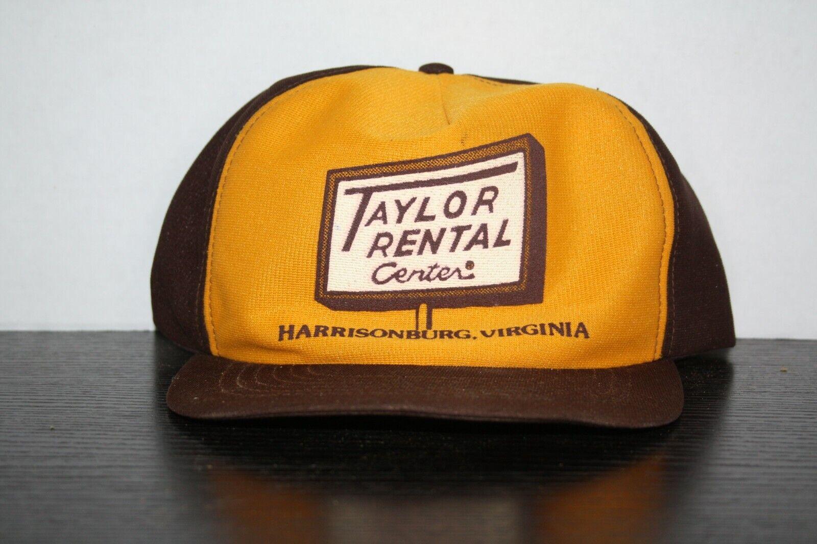 VintageTaylor Rental Yellow Brown Hat Harrisonburg VA Made In USA