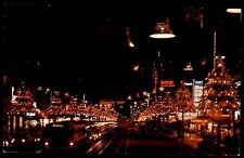 HOLLYWOOD Los Angeles USA Amerika Santa Claus Lane by Night Postcard ~1960/70