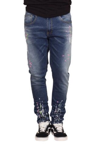M SOCIETY Slim Fit Splatter Jeans