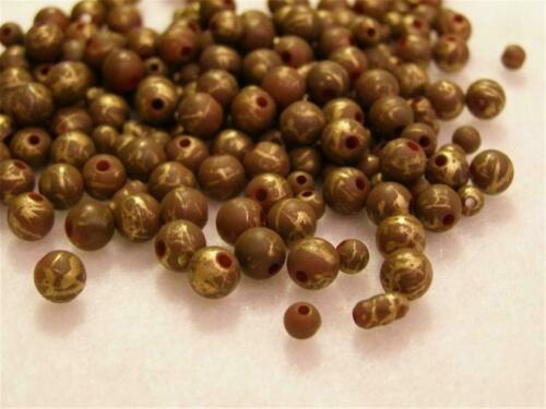 B136.. 40gms de minuscules banc perles-MARRON /& OR