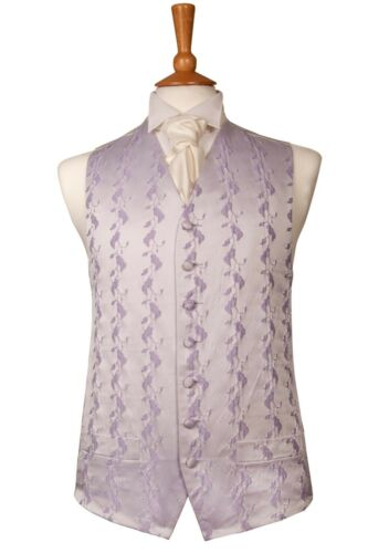 MENS AND PAGE BOYS DESIGNER LILAC VINE WEDDING DRESS SUIT WAISTCOAT ALL SIZES
