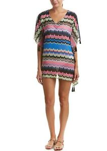 PilyQ-Clara-Tassel-Tunic-Dress-Swimsuit-Coverup-154-NWT-8-10-12-14-Medium-Large