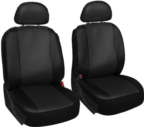 FORD TRANSIT CONNECT  Leather Look MAYFAIR Black FRONT Van Seat Covers