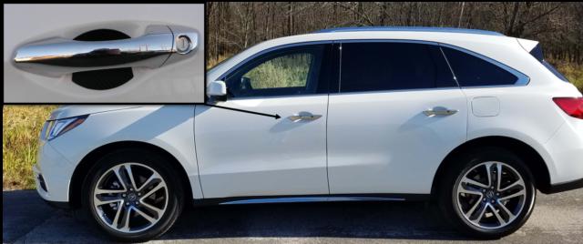 Acura MDX Auto Accessory Carbon Fiber Car Door Handle Scratch - Acura mdx accessories