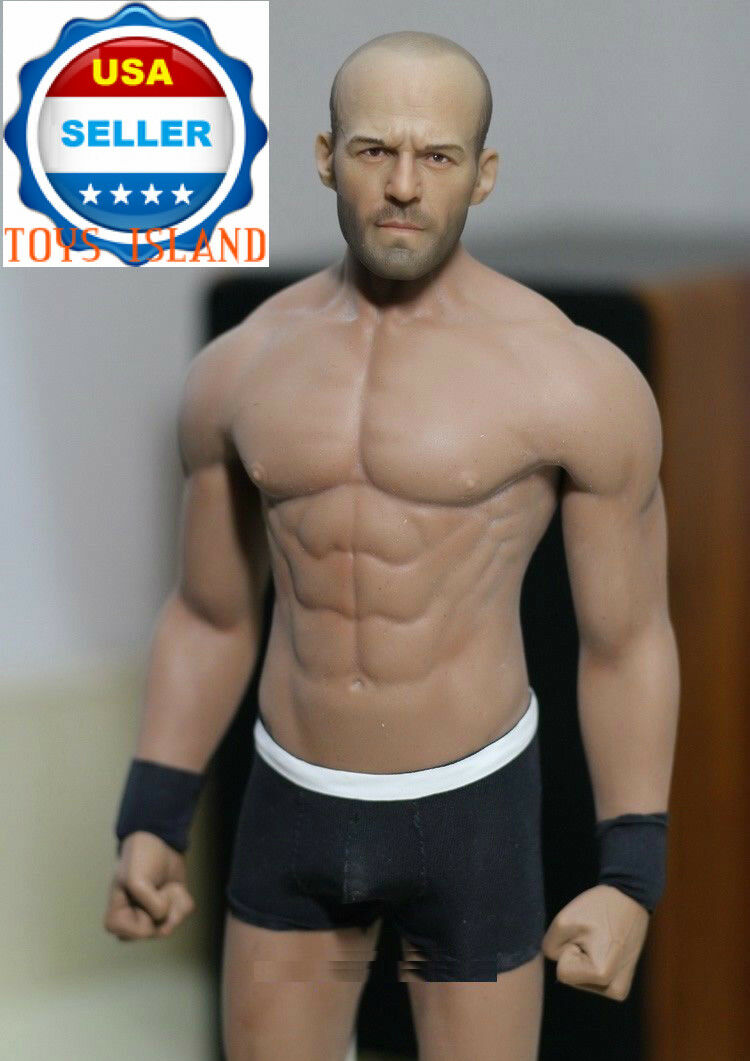 1 6 Jason Statham Head Sculpt Sculpt Sculpt with PHICEN M33 Seamless Male Muscular Figure Set 61471b