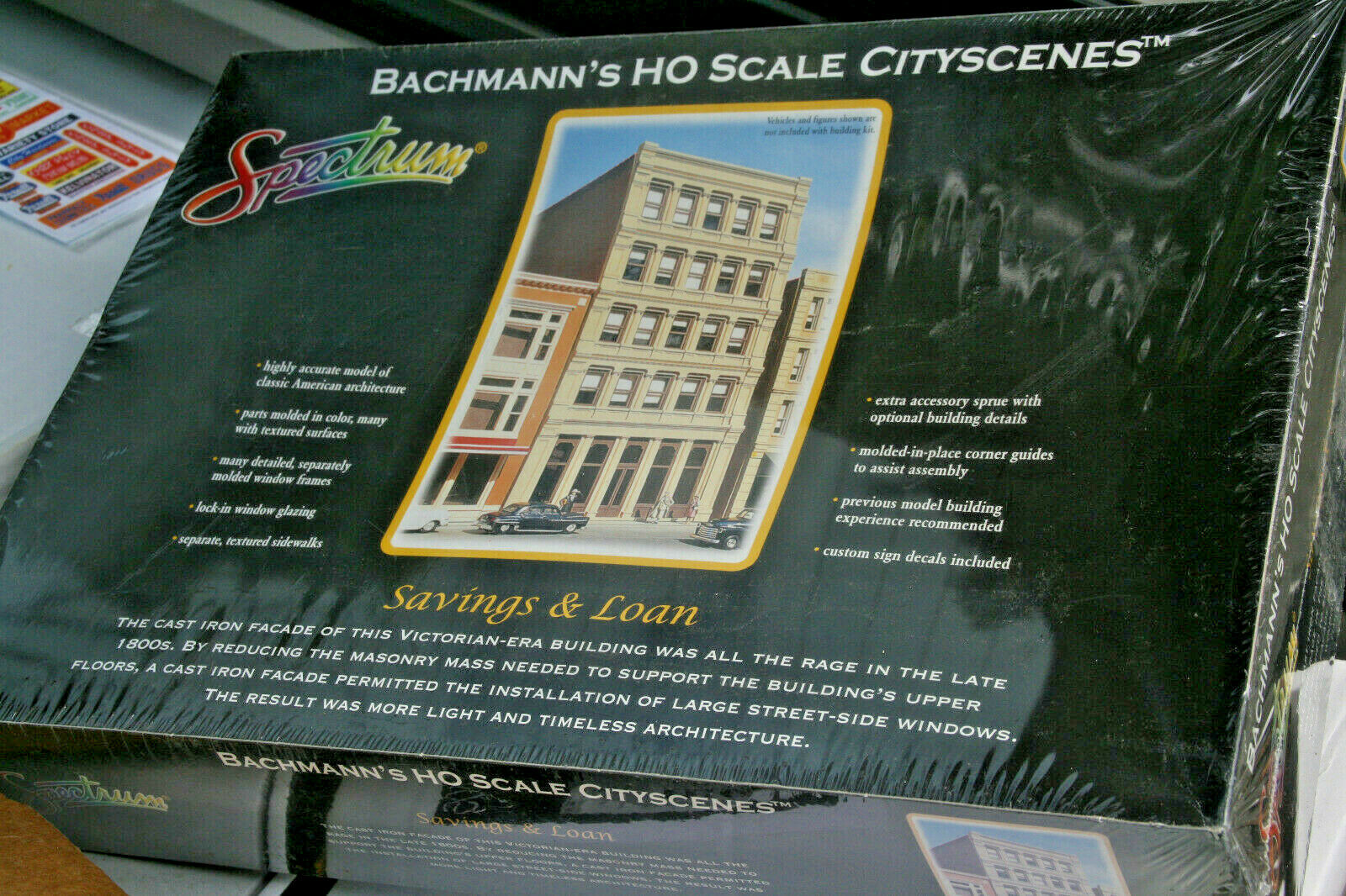 BACHMANN SPECTRUM HO SCALE CITYSCENES SAVING & LOAN NEW IN BOX