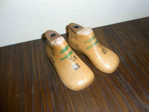 Schuhleisten 1 Paar 12cm lang 5 1//2 breit Mini alte Kinder Schusterleisten