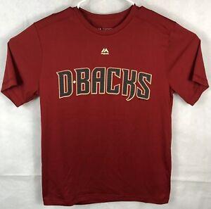 8cbf281d Image is loading Arizona-Diamondbacks-MLB-Majestic-Medium-T-Shirt-Red-
