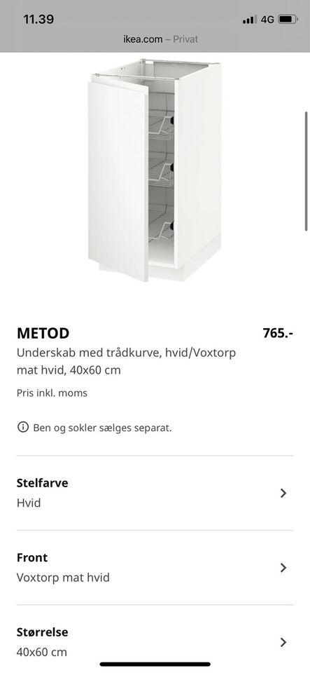 Underskabe, Ikea METOD