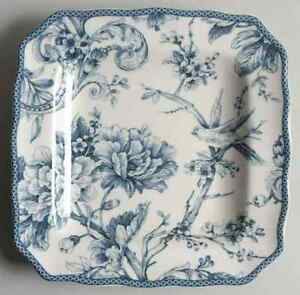 222-Fifth-ADELAIDE-BLUE-amp-WHITE-Square-Salad-Plate-8950380