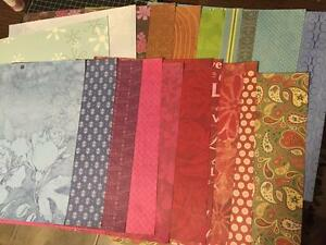 Scrapbook-Paper-Lot-of-50-sheets-12-x-12-Mixed-Designs-Colors