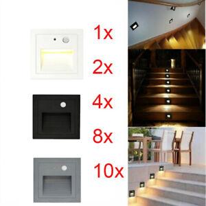 Led Treppenbeleuchtung Treppenlicht Mit Bewegungsmelder Stufenlicht 230v 3w Ebay