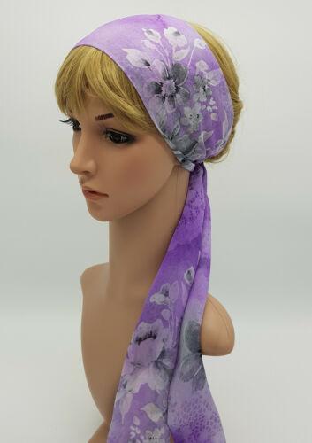 Self Cravate Cheveux foulard léger Head Wrap Mousseline Tête écharpe cheveux cravate