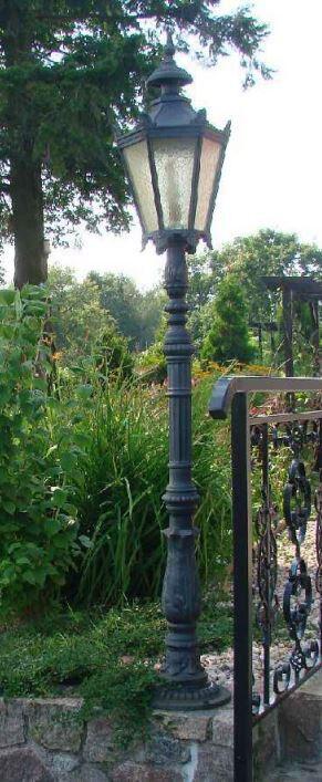 Gusslaterne, Gartenlaterne, Gartenleuchte, Gartenlampe, Gusseisen 190CM