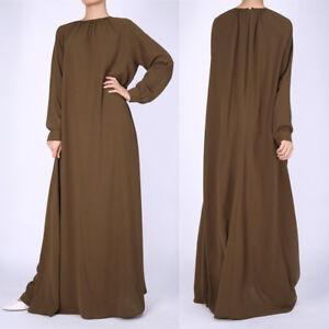 228ca23be48 Image is loading Islamic-Clothing-Women-Long-Sleeve-Abaya-Kaftan-Dubai-