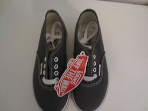 3ddf6342b49 VANS AUTHENTIC OFF THE WALL Lo Pro Kids Shoes Gray Canvas Size 10.5 ...