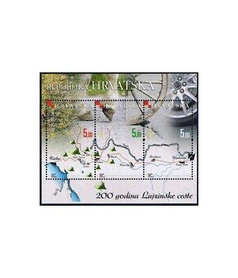 Briefmarken Europa Kroatien Block 32 ** Einfach Zu Schmieren