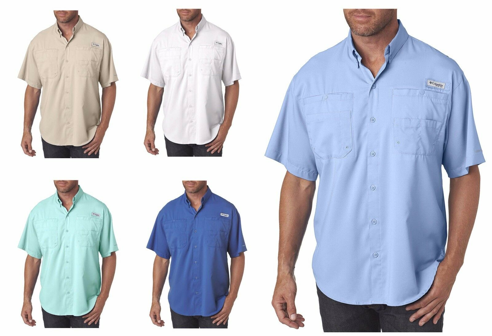 Columbia Men's Tamiami II Short-Sleeve Shirt PFG Fishing S_2XL