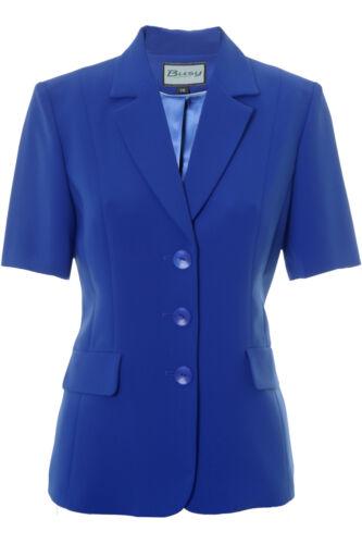 Busy Royal Blue Short Sleeve Ladies Jacket