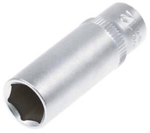 Steckschluessel-SW-12-mm-1-4-Zoll-Werkzeug-Kfz-Stecknuss-Aussen-Sechskant-lang-Nuss