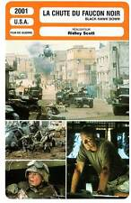 FICHE CINEMA : LA CHUTE DU FAUCON NOIR - McGregor,Scott 2001 Black Hawk Down
