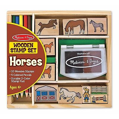 Melissa & Doug Stamp Set: Horses