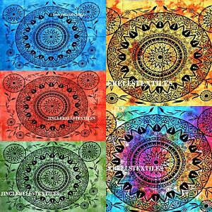 Indian-Mandala-Decor-Cotton-Wall-Hanging-Tapestry-Poster-Multi-color-art-30X40