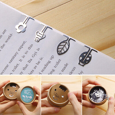 40pcs/set ECO FRIENDS Steel mini BOOKMARK clip type with case Korean fashion