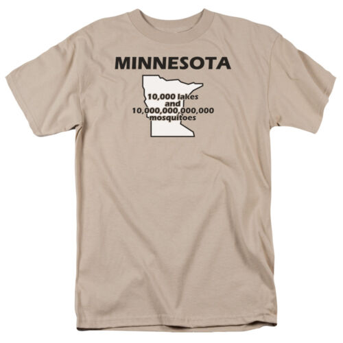 10,000 LAKES AND 10 TRILLION MOSQUITOES T-Shirt All Sizes MINNESOTA