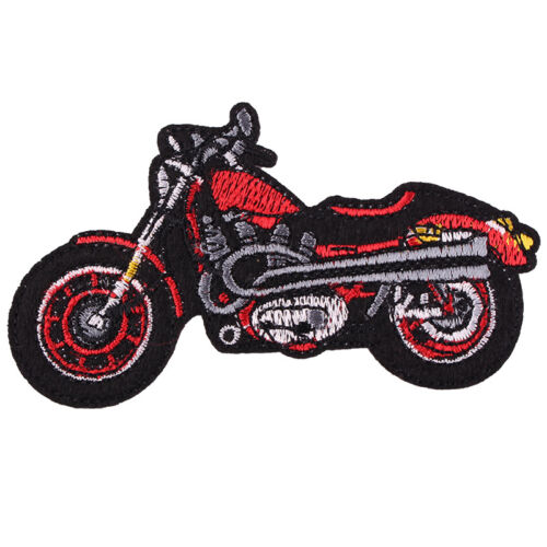 """Fashion Cool Motorbike Embroidered Iron//Sew ON Patch Cloth Applique 3.8x2/"""""""