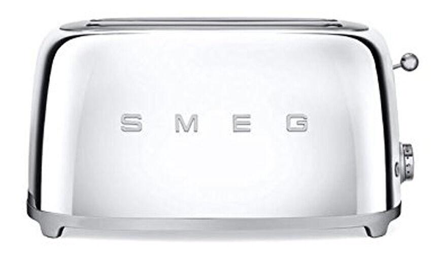 SMEG Années 50 Style Rétro esthétique Grille-pain 4 fentes électrique 1400 W Chrome NEUF