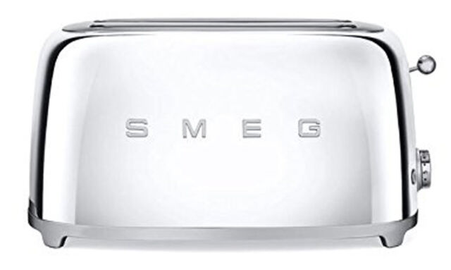 Smeg 50 S Retro Style Aesthetic 4 Slice Toaster 1400w Electric Chrome New