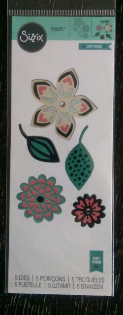 sizzix thinlits intricate tribal florals 5 die set by Craft Asylum 660500