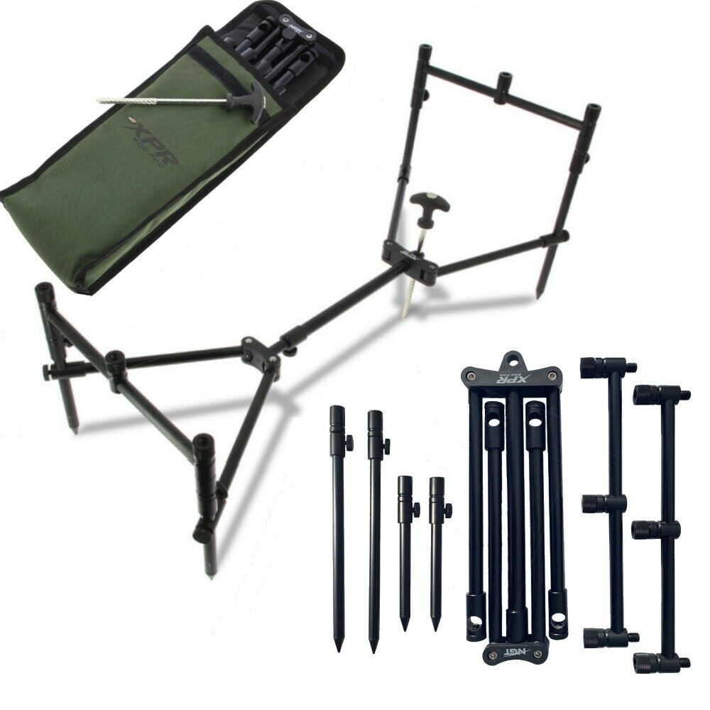 NGT XPR Rod Pod  Carp Fishing 3 Rod Fully Adjustable Lightweight Compact Pod  low price