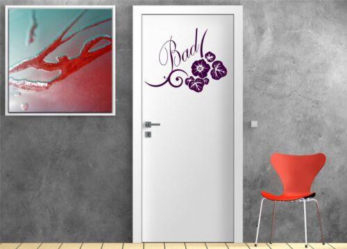 Türaufkleber salle de bains bain à Hibiscus türtattoo türsticker Mural Film