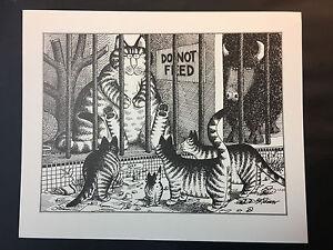 B Kliban Cats CATS IN CLOTHES vintage funny cat art print