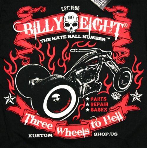 Rock-a-billy USA Billy Eight Mens Hoodie Biker HATE BALL
