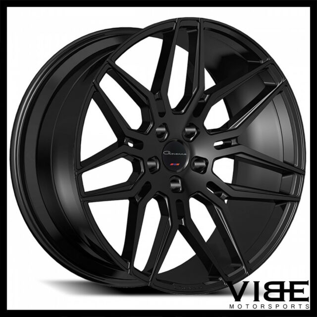 22 Giovanna Bogota Gloss Black Concave Wheels Rims Fits Audi D3 A8