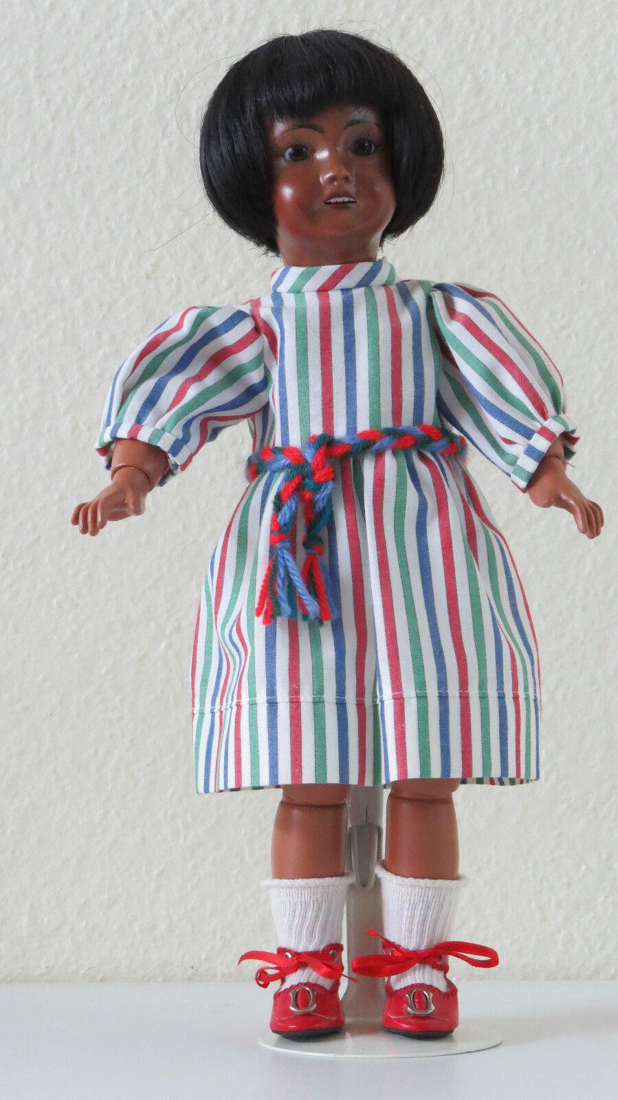 bluette  301 Métisse    J      29 cm   Poupée ancienne reproduction Antique bambola  caldo
